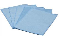 Tablet en smartphone microvezeldoekjes, 15 x 20 cm blauw (5 stuks)