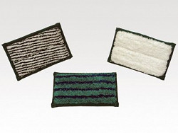 Mini pad hard 9 x 16 cm (wit met groene strepen) (Greenspeed)