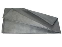 Microvezeldoek METALIK 40 x 75 cm. grijs