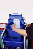 Emmer 2-vaks met 8L en 7L vak, blauw, (exclusief wringer) (Greenspeed)