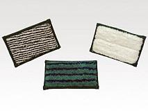 Mini Pad scrub 9 x 16 cm (groen met blauwe strepen) (Greenspeed)