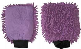 Washandschoen Microvezel RASTA violet
